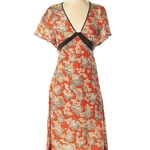 Anthro Maeve Silk Kimono Dress Sz 2